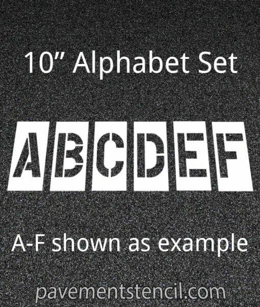 """10"""" alphabet stencils"""