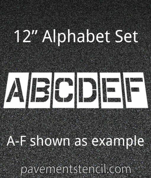 """12"""" alphabet stencils"""