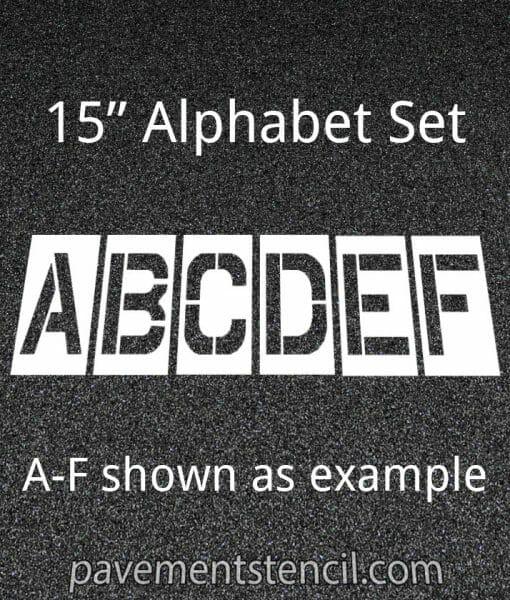 """15"""" alphabet stencils"""