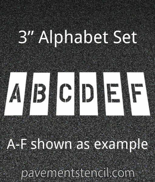 """3"""" alphabet stencils"""