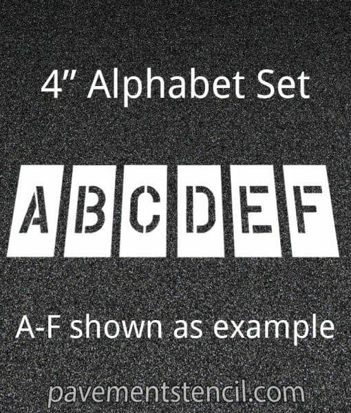 """4"""" alphabet stencils"""