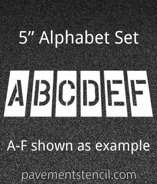 """5"""" alphabet stencils"""