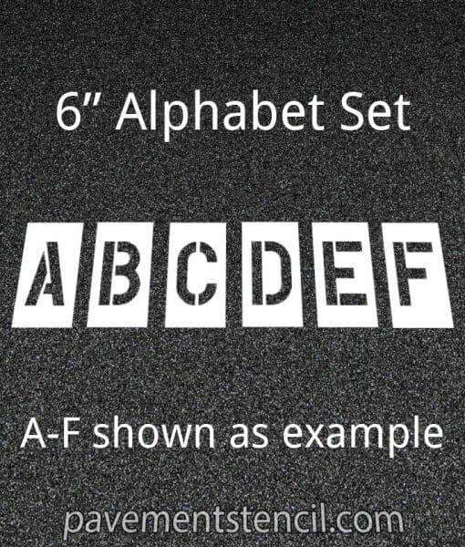 """6"""" alphabet stencils"""
