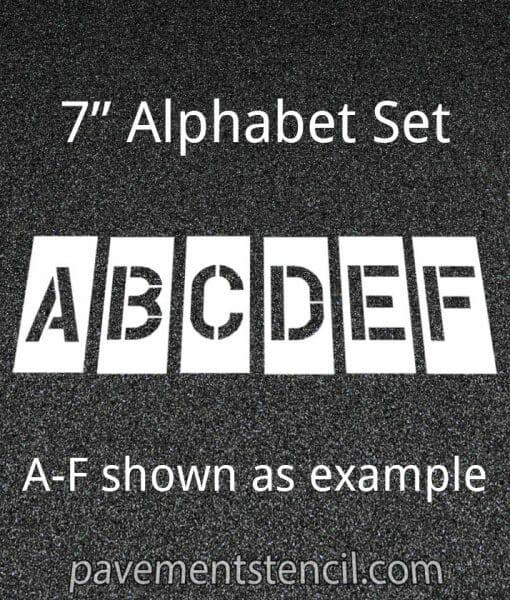 """7"""" alphabet stencils"""