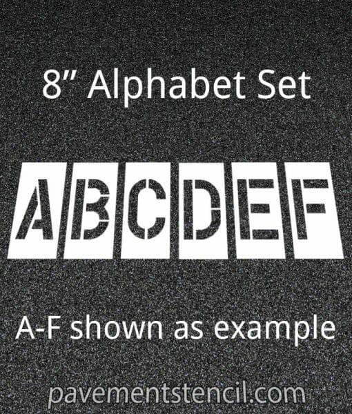 """8"""" alphabet stencils"""