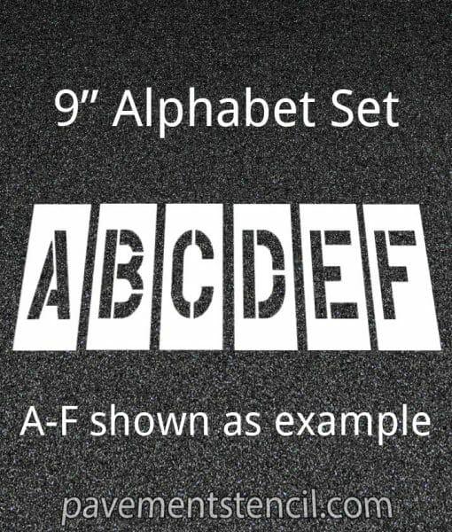 """9"""" alphabet stencils"""