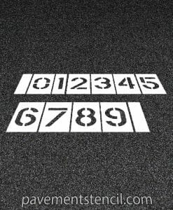 Parking lot number stencils