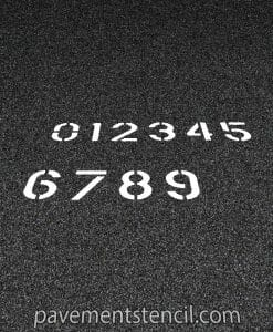 Set of number stencils
