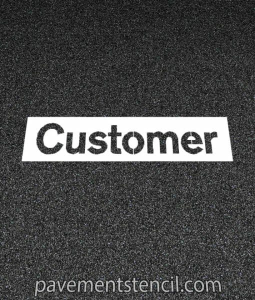 NISSAN customer stencil