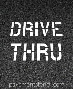 Walgreens drive thru stencil
