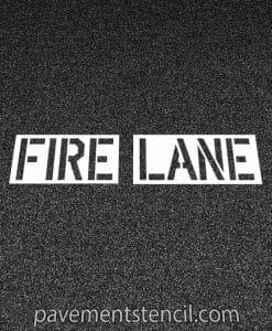 Lowe's fire lane stencil
