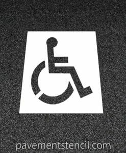 Lowe's handicap parking stencil