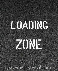 Lowe's loading zone stencil
