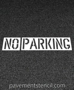 Lowe's no parking stencil