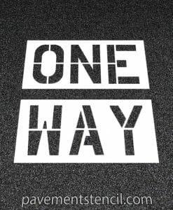 Walgreens one way stencil