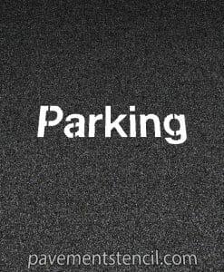 NISSAN parking stencil