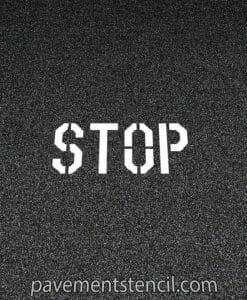 Lowe's stop stencil