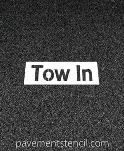 NISSAN tow in stencil