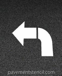 Walgreens turn arrow stencil