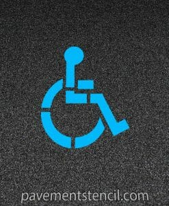 "39"" handicap logo stencil on pavement"
