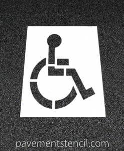 "39"" handicap logo stencil"