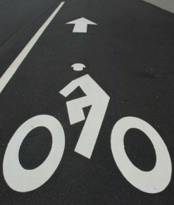 Bike Lane & Pedestrian