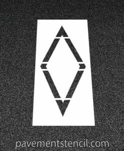 Bike lane diamond stencil