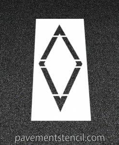Bike lane diamond stencil