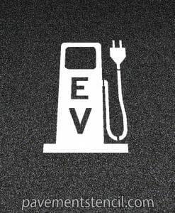 Electric vehicle charging pump stencil