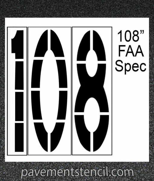 "108"" FAA Spec stencil"