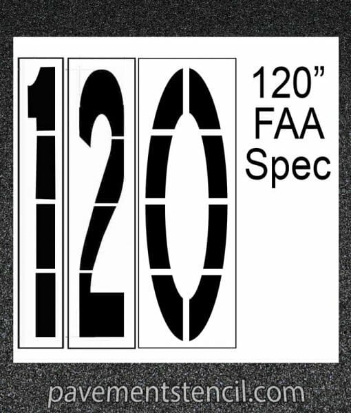 "120"" FAA Spec stencil"