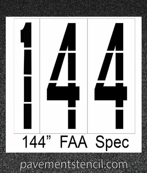 "144"" FAA Spec stencil"