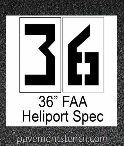 """36"""" Heliport FAA stencil"""