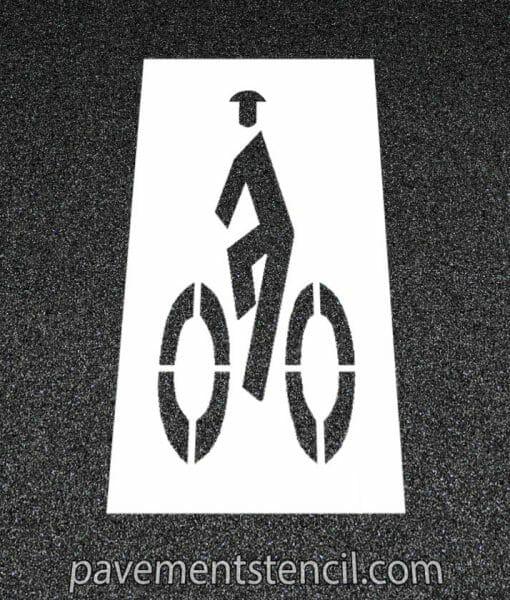 Man on bike stencil