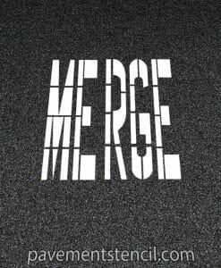 DOT Merge stencil