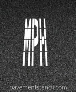 DOT MPH stencil