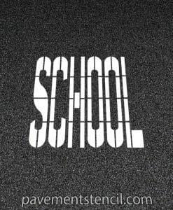 DOT School stencil
