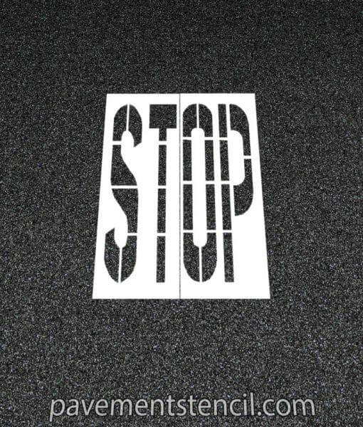 DOT Stop stencil