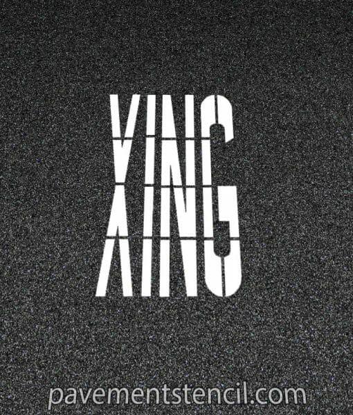 DOT XING stencil