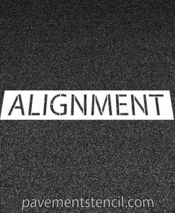 Jiffy Lube alignment stencil