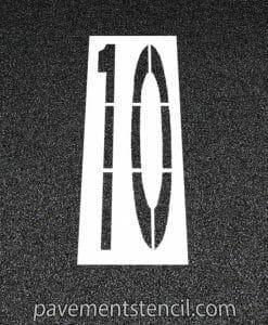 Amazon 10 MPH stencil
