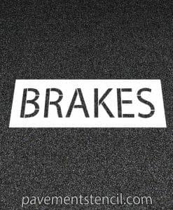 Jiffy Lube brakes stencil