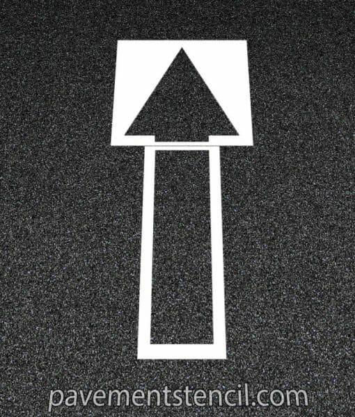 CVS straight arrow stencil