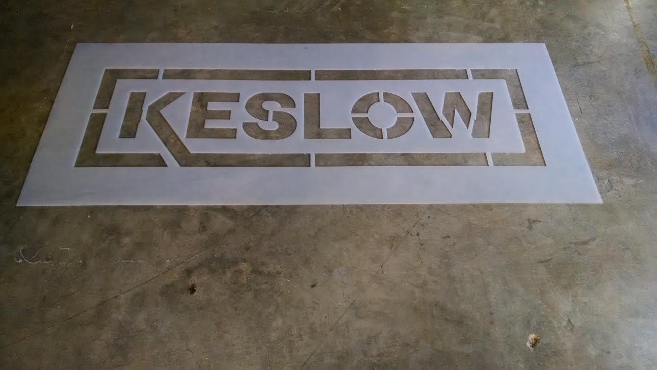 Custom Keslow stencil