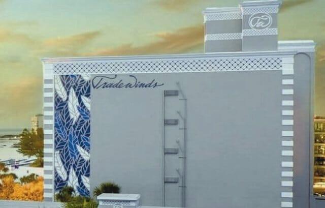 Tradewinds hotel custom stencil