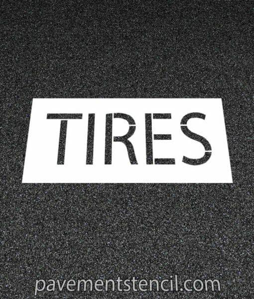 Jiffy Lube tires stencil