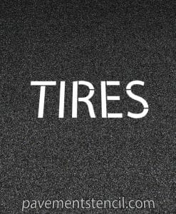 Jiffy Lube tires stencil