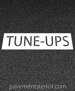 Jiffy Lube tune ups stencil