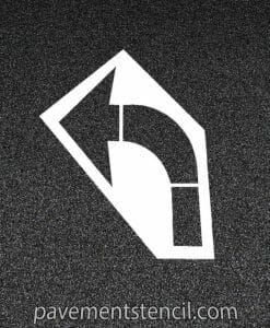 Amazon turn arrow stencil