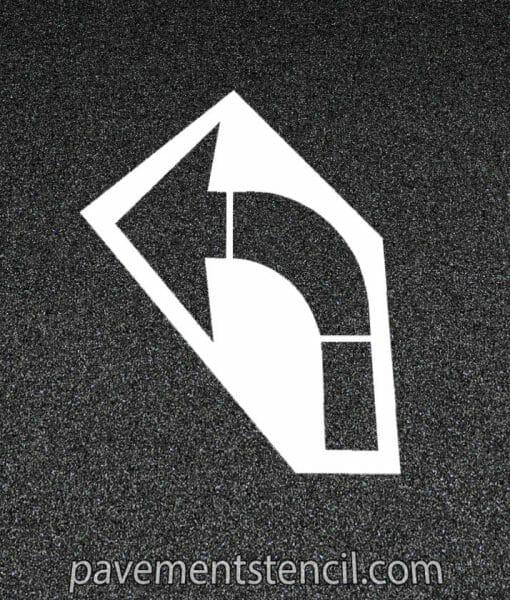 Amazon turn arrow stencil